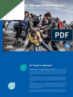 Plaquette SOS MEDITERRANEE MEDECINS DU MONDE Sauvetage en Mer