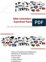 Bible Icebreakers - SuperBowl Teams