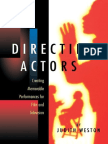 Judith Weston - Directing Actors
