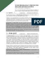 Elaboracion de Programas y Proyectos de Asc