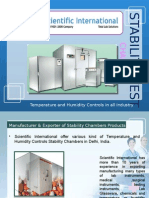 Types of Temperature and Humidity Controlled Stability Test Chambers in Pharmaceutical Industry