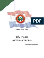 Ley Nº 3.966, Orgánica Municipal