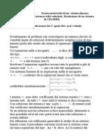 Sistemi Lineari Di Cramer-Forma Matriciale.