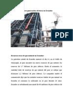 Caldera de Gas Para Generación Eléctrica en Ecuado