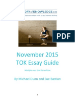 TOK Essay Guide November 2015