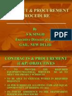 Training C&P Procedure
