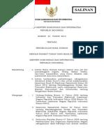 Permen Kominfo No.23 Tahun 2013