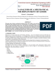 DESIGN AND ANALYSIS OF A MECHANICAL SYSTEM FOR DEPLOYMENT OF GOODS