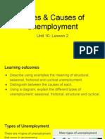 unit 10 - lesson 2 types of unemployment