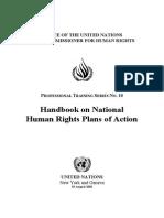 UN Handbook HR Action Plan