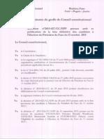 Décision du Conseil consitutionnel sur les candidatures à la présidentielle d'octobre au Burkina