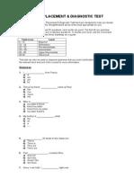 Placement Test Grammar and Voc