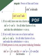 8[1].4 Trigonometric Integrals