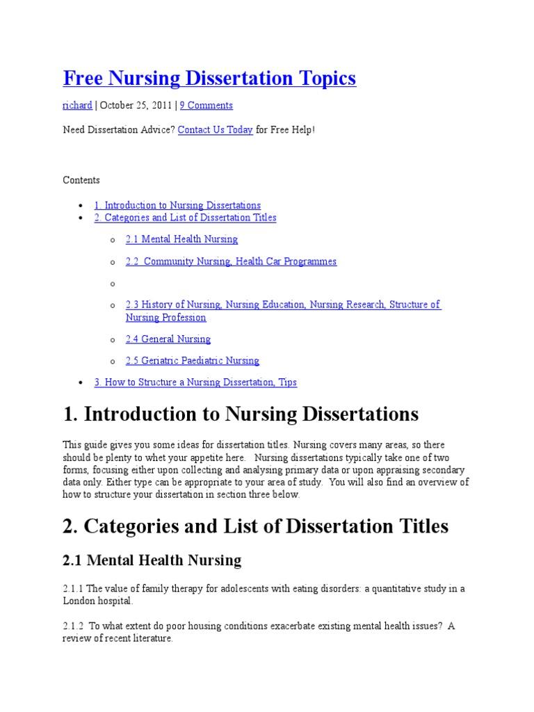 Dissertation topics in nursing freedom writers analysis essay