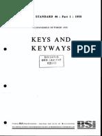 BS 46-1-1958 (Keys & Keyways)