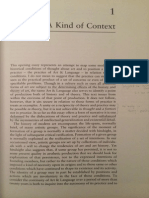 A Kind of Context - Charles Harrison