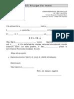 Modello Delega Per Richiesta Attestato Cap. Prof.le Merci e Viaggiatori