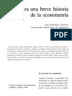 Breve Historia de La Econometría
