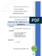 Informe de Practica en Huariaca-yacimientos No Metalicos