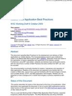 Mobile Web Application Best Practices
