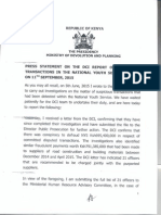 Press Statement on the Director Criminal Investigations Report on Suspicious transactions in the National Youth Service