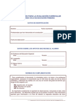 Evaluación competencia curricular 2º ciclo EPO