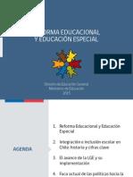 Reforma Edu y Educación Especial 2015