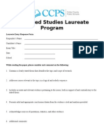 advanced studies laureate essay response form