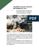 ¿¡Por Qué Ocurrió El Golpe Fascista Del 11 de Septiembre de 1973