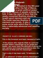 Moral Instructions Surah Hujurat