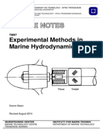Experimental Methods in Marine Dynamics