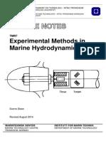 Experimental Methods in Marine Dynamics