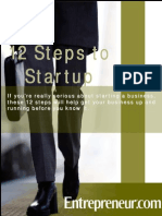 12 Steps to Startup