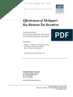 MEA Report on Michigan's Business Tax Breaks