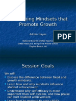 Developing Mindsets That Promote Growth