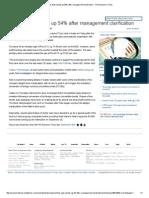 Amtek Auto Shoots Up 54% After Management Clarification - The Economic Times