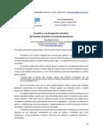 Ana María Vara - El Público y La Divulgación Científica