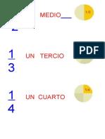 Fracciones nombre y representación 10 primeras