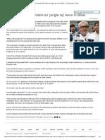 Nitish Trashes BJP Claim on 'Jungle Raj' Rerun in Bihar - The Economic Times
