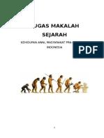 MAKALAH SEJARAH Kehidupan Awal Masyarakat Indonesia