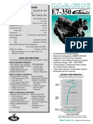 Motor E-TECH E7-350 Econodyne pdf | Engines | Piston