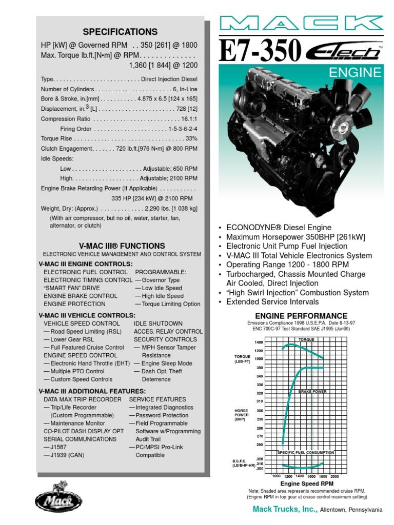 Motor E-TECH E7-350 Econodyne pdf | Engines | Piston