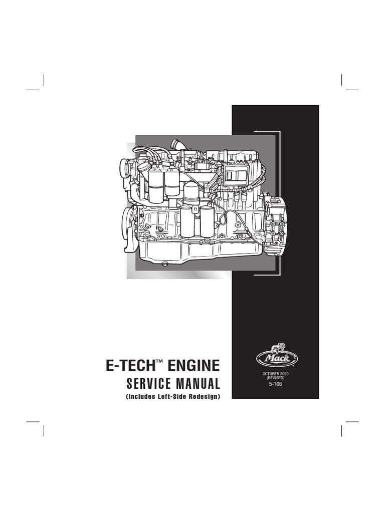 e tech pdf cylinder engine screw rh es scribd com Mack E6 Engine Manual Mack Engine Overhaul