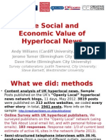 The Social and Economic Value of Hyperlocal News