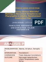 Critical Appraisal Jurnal Kedokteran - Widopoenya