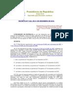 Decreto Nº 7.422, De 31 de Dezembro de 2010.