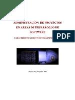 Administracion de Proyectos en Areas de Desarrollo de Software