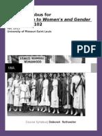 women studies syllabus 2015