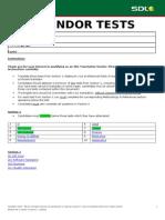 Sdl Vendor Tests - Kit 1