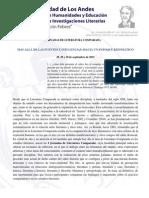 Circular I Jornadas Literatura Comparada, Septiembre 2015